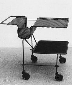 Mathieu Mategot, trolley, 1954 #design #pin_it @mundodascasas See more here: www.mundodascasas.com.br