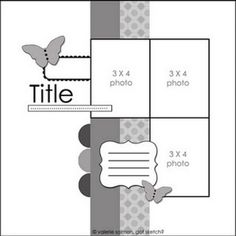 :: Scrapbooking sketch; 3 photo layout. ::
