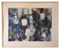 Harold Davies (American, 1891-1976), Abstract, oil on paper, signed, mid-20th century