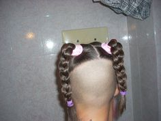 Shaved Nape, Shaved Head, Side Cut Hairstyles, Bob Hairstyles, Crazy Hair, Big Hair, Transgender Girls, Pin Up Style, Undercut