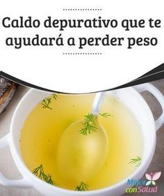 Caldo depurativo que te ayudará a perder peso - Mejor con Salud Purifying broth that will help you lose weight One of the easiest ways to facilitate weight loss when we are improving our lifestyle is Caldo Detox, Sopas Low Carb, Natural Beauty Recipes, Easy Detox, Cooking Recipes, Healthy Recipes, Natural Detox, Great Recipes, Lose Weight