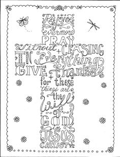 Instant Download Scripture Cross You Color and by ChubbyMermaid