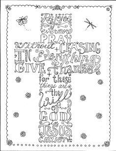 Instant Download Scripture Cross You Color and door ChubbyMermaid
