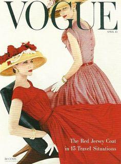Vogue April 1956  Joan Friedman and Evelyn Tripp by Karen Radkai