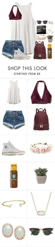 """~c o n f u s e d~"" by taybug2147 ❤ liked on Polyvore featuring RVCA, Hollister Co., Levi's, MICHAEL Michael Kors, Converse, Forever 21, Kendra Scott and Ray-Ban"