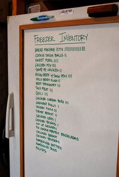 Food Storage Organization Meal Planning 37 Ideas For 2019 Kitchen Organization, Storage Organization, Refrigerator Organization, White Board Organization, Deep Freezer Organization, Refrigerator Cabinet, Pantry Organisation, Freezer Storage, Garage Storage Solutions