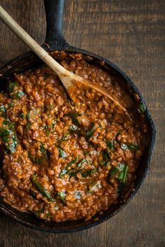 Red+Lentil+Masala+with+Spinach
