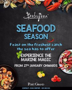 FREE ENTRY FOR SEAFOOD LOVERS AT PORT GRAND!!! Feast On The Freshest Catch The Sea Has To Offer With Our Divine Special Dinner Menu Savor Seafood Delicacies Including Lahori Fried Fish Prawn Karhai Lobster Thermidor Szechuan Style Crabs Crispy Squids & much more!!! Experience The Marine Magic Starting From 27th January Onwards Only At Port Grand  #portgrand #karachite #food #fooddiary #pakistani #foodporn #desi #restaurant #exclusivepakistanisuits #igerspakistan #tourpakistan  #mood…