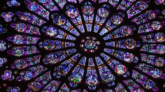 stained glass at Notre-Dame