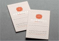 Custom Business Cards | Flat panel with image and sentiment below (portion of text in same color)