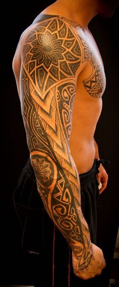 Tribal Tattoos Mens Sleeve #tattoosmen