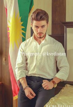 Kurdish man ⭐️ Pinterest: @kvrdistan Photos, Handsome, Shirt Dress, My Style, Mens Tops, Shirts, Wedding, Hair, Fashion