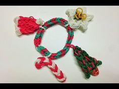 YouTube - Weihnachts-Armband Rainbow Loom, Videos, Bracelets, Youtube, Jewelry, Wristlets, Tutorials, Christmas, Jewlery