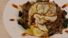 Shirataki Noodle Stir Fry with Over Easy Egg at Salt For Flavor