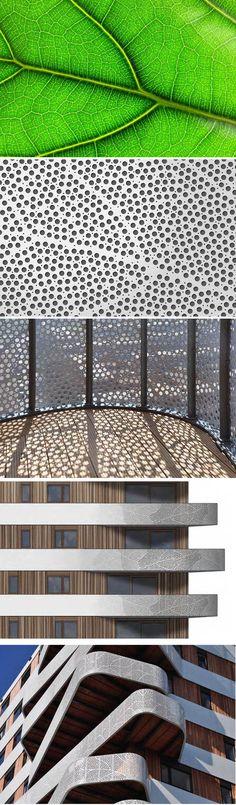 Hatert Housing by architecture in Nijmegen, The Netherlands Screen Design, Facade Design, Facade Architecture, Landscape Architecture, Shading Device, Facade Pattern, Building Skin, Metal Facade, Shade Structure