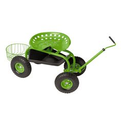 ht height.  My walker seat is too high (& to difficult to move the seat lower), and a kitchen chair sinks into the ground, becoming unstable, and I need something I can push off of to get up.  This is a possibility.   Tractor Scoot | Rolling Garden Seat | Gardener's Supply