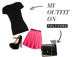 """Black and Pink"" by katp27 ❤ liked on Polyvore"