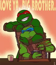 Raph says 'I love you' by *sneefee on deviantART