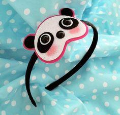 Panda Headband Also available as a Hair Clip or par emandsprout, $12,00