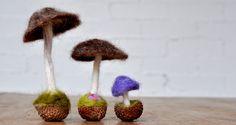 How to Make a Needle-Felted Mushroom