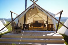 Glamping in Moab under canvas and Arches National Park. Yes glamping is a word. Yellowstone Camping, West Yellowstone, Glam Camping, Camping Glamping, Camping Store, Backyard Camping, Camping Cabins, Camping Places, Camping Trailers