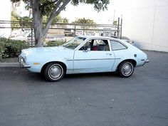 1st Car - Baby Blue Pinto my dad used to have a car like this!