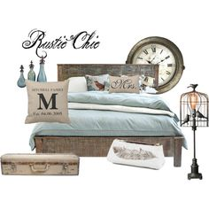 """Rustic Chic bedroom"" Polyvore"