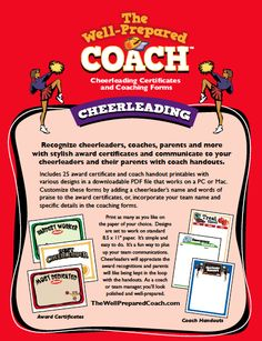 Cheerleading Award Templates | Certificate Maker | Cheerleader Custom