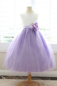 f21becb8bcd Lilac Flower Girl Dress - Shantung Bodice w  Tulle Skirt in 2019 ...