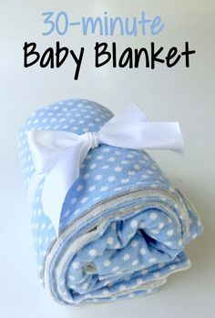 Super easy sewing project - a soft, cuddly blanket! Perfect baby gift!