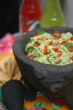This guacamole is the definitive recipe, adapted from Josefina Howard, the chef at the original Rosa Mexicano restaurant in Manhattan It is dead simple and easily scaled to serve a crowd, which is good, because you'll need a lot of it — even if you're the only one partaking.