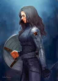 Image result for female winter soldier drawing