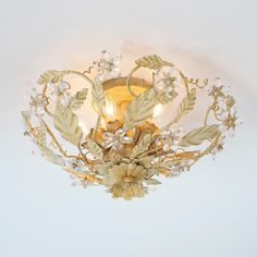 Tons of beautiful light fixtures at this website - Crystal Flowers Ceiling Light