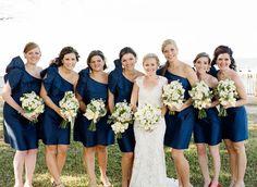 #navy bridesmaid dresses