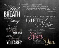 5 Word Overlays  Baby Newborn Phrases Photo by StudioTwentyNine, $6.20