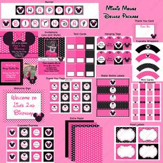 DIY Minnie Mouse Pink  PRINTABLE  birthday by CupcakeExpress2, $7.50
