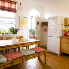 Bench seating | Country kitchen ideas | Style at Home | housetohome