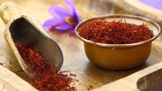 Buy Dried saffron spice and Saffron flower by viperagp on PhotoDune. Dried saffron spice and Saffron flower Saffron Tea, Saffron Spice, Saffron Flower, Biryani, Natural Cures, Natural Health, Most Expensive Food, Saffron Benefits, Paella