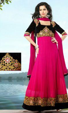 Buy Online Designer Anarkali Churidar Kameez Set. Designer Anarkali Dress/SalwarKameez.