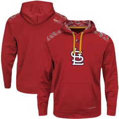 36b1d5245 St. Louis Cardinals Majestic Big   Tall Coin Toss Therma Base Pullover  Hoodie - Red