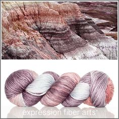 Mesa - superwash merino wool pearlescent worsted yarn by expression fiber arts