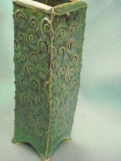 Highland Pottery Arlington WA Katherine Wells Vase TO DECORATE YOUR HOME.  $35 with free shipping and yes it is crooked!