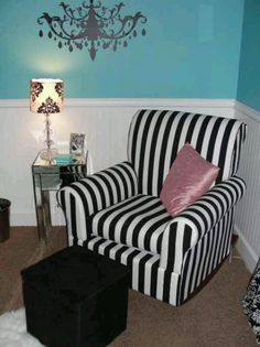 Love the stripe chair!