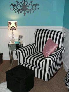 Love the stripe chair!