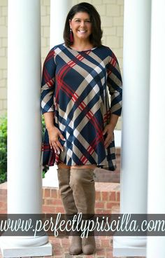Look and feel your best with our trendy plus size clothing, with current fashion styles and trends to fit the curvy girls. Trendy Plus Size Clothing, Plus Size Outfits, Plaid Dress, Dress Skirt, Curvy Fashion, Trendy Fashion, Boutique Dresses, Fall Outfits, Autumn Fashion