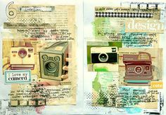 journal page from mumkaa (flickr) http://www.flickr.com/photos/mumkaa_/ http://www.mumkaa.blogspot.com/ #art_journal #mixed_media