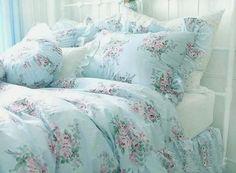 Cottage Blue Pink Roses