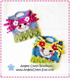 Lala Loopsy Lalaloopsy Doll Inspire Crochet Purse by AngelsChest