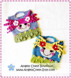 Lala Loopsy Lalaloopsy Doll Inspire Crochet Purse por AngelsChest