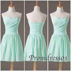2015 cute sweetheart strapless modest light blue chiffon short prom dress for teens, junior prom dress, ball gown, homecoming dress, evening dress #promdress #coniefox